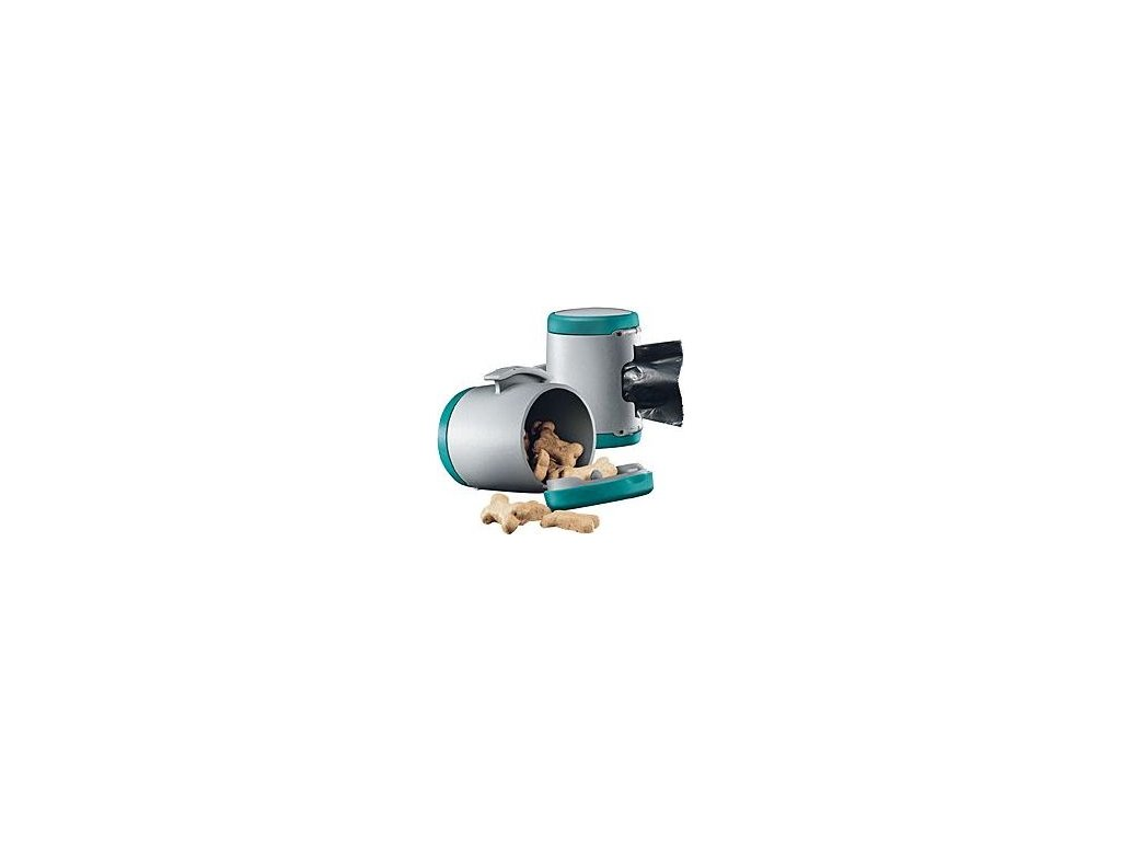 Vario Multi Box - zásobník na pamlsky nebo pytlíky - tyrkysová