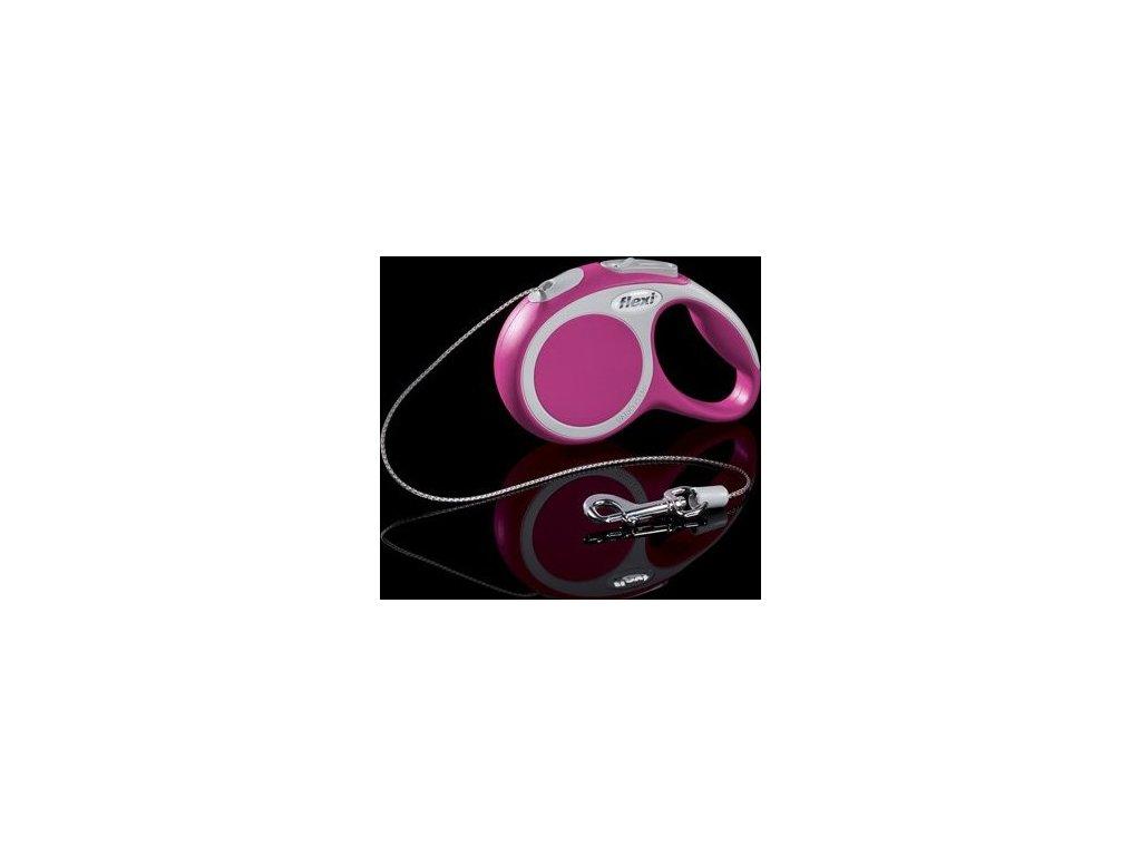 Flexi Vario XS 3 m šňůra, max. 8 kg - růžová