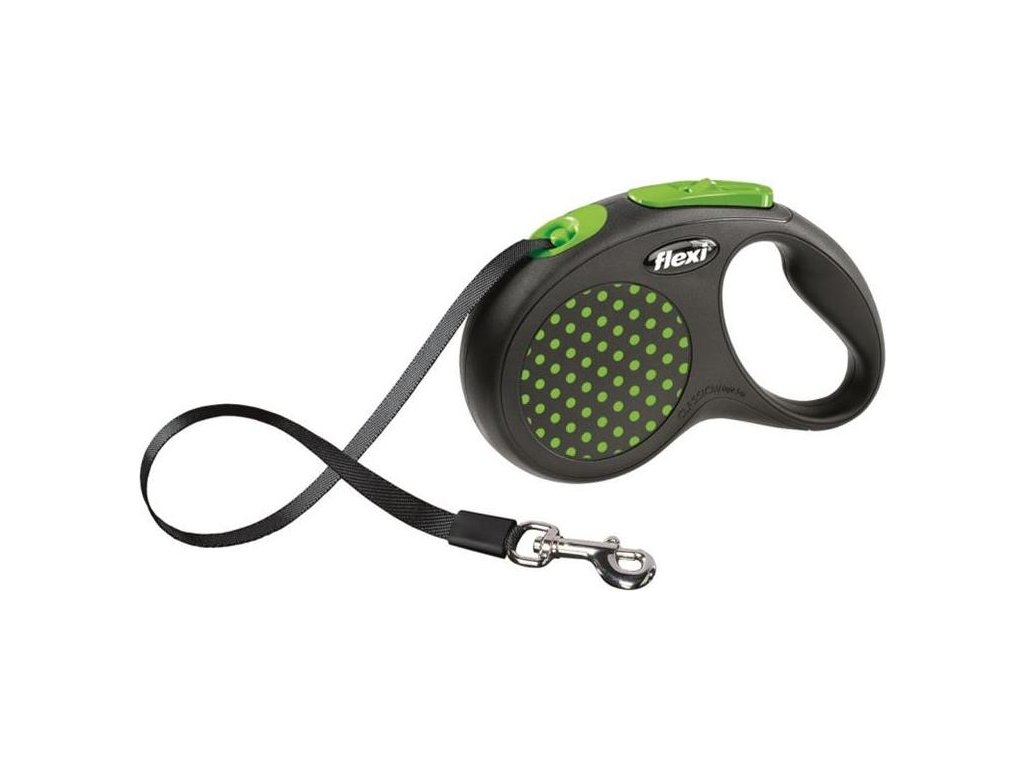 Flexi Design S pásek (do 15 kg) - zelené 5 m