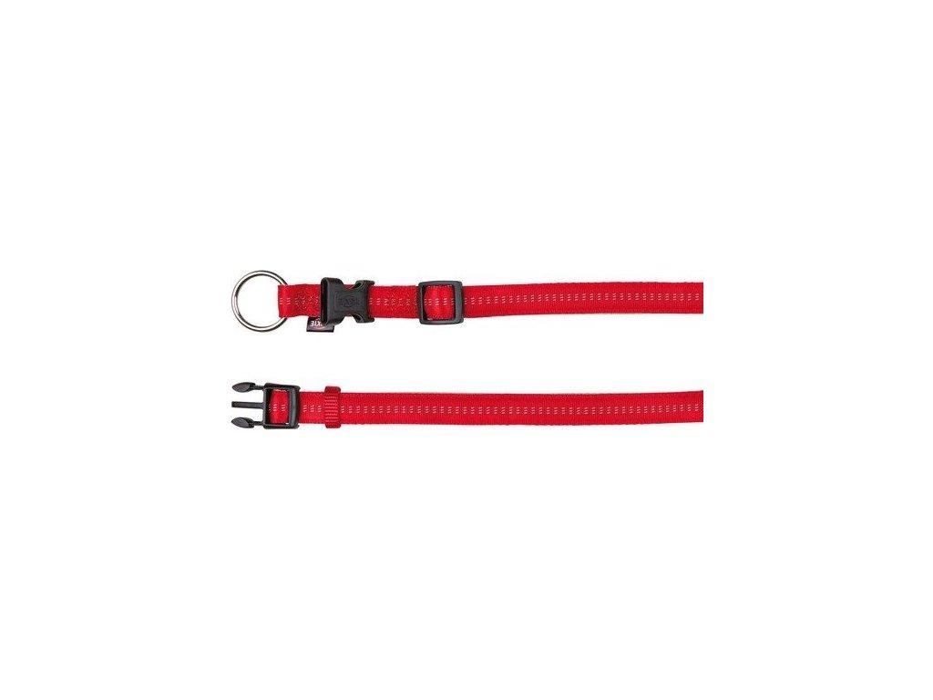 Obojek SOFTLINE ELEGANCE 25-30cm/15mm (XS-S) - červeno/béžová