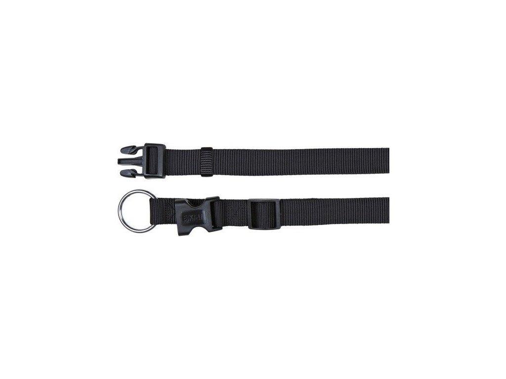 Nylonový obojek CLASSIC 22-35cm/10mm (XS-S) - černá