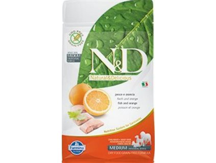N&D GF DOG Adult Fish & Orange 800g