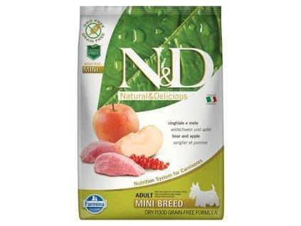 N&D GF DOG Adult Mini Boar & Apple 7kg