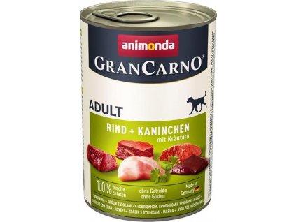 GRANCARNO Adult - králík + bylinky 400g