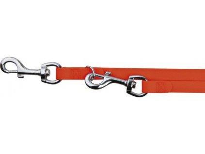 Easy Life přepín.vodítko PVC S-XL 2,00 m/17 mm neon oranžová