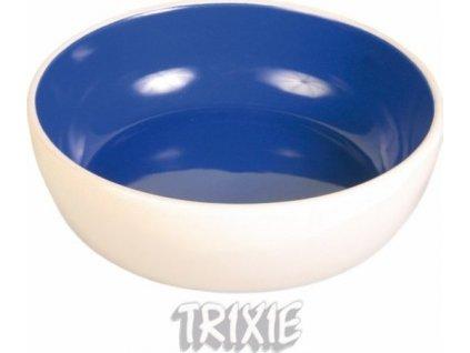 Keramická miska s glazurou 300ml/12cm - krémovo/modrá