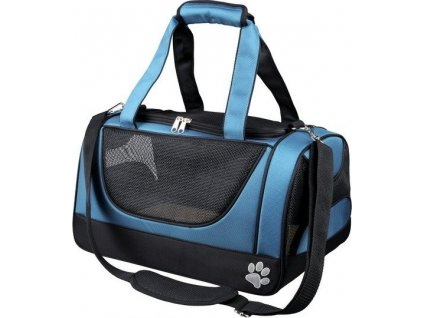 Cestovní síťovaná taška JACOB modro/černá 27x23x42 cm