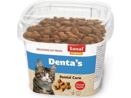 SANAL DENTAďS - snack na čištění zubů pro kočky 75 g