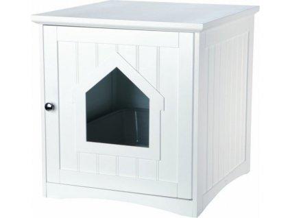 Skříňka na kočičí toaletu 49 x 51 x 51 cm bílá (např.33040)