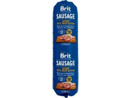 Brit salám Sausage Beef & Fish-Sport formula 800 g