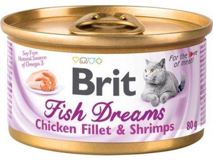 Brit Cat konz Brit Fish Dreams Chicken & Shrimps 80g
