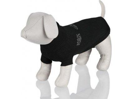 Černý svetr King of Dogs M 45 cm