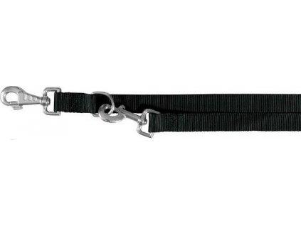 Vodítko CLASSIC prodlužovací 2,0 m / 20 mm (M-L) - černá