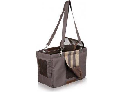 -Cestovní taška MAJA hnědo/béžová 18x25x36cm DOPRODEJ