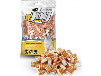 Calibra Joy Dog Mini Chicken & Cod Sandwich 70g NEW