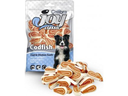 Calibra Joy Dog Classic Cod & Chicken Sushi 80g NEW