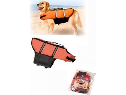Vesta plavací Dog L 40cm oranžová
