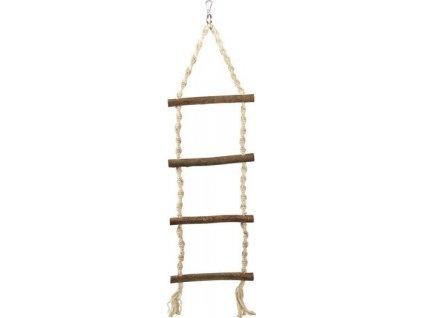 !Závěsný žebřík motouz + 4 dřevěné příčky 85cm DOPRODEJ