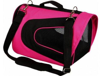 ALINA bag, nylonová přepravní taška se síťkou 27x27x35 cm - růž