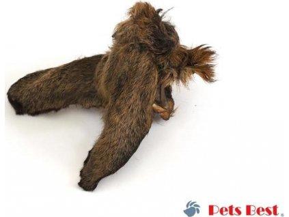 Pets Best, srnčí uši se srstí, 2 ks