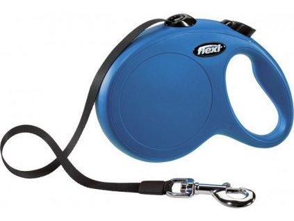 Flexi New Classic L pásek 5 m, max. 50 kg - modrá