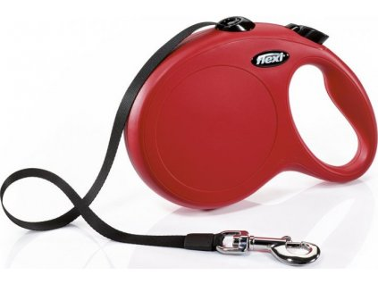 Flexi New Classic L pásek 5 m, max. 50 kg - červená