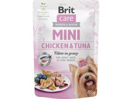 Brit Care Mini Dog kaps. Chicken&Tuna fillets in gravy 85 g