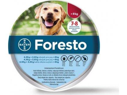 Foresto 70 obojek pro psy  +dárek: svítí přívěsek