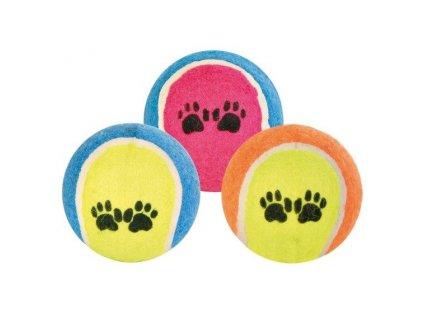 Trixie Tenisový míč barevný s tlapkami 6cm