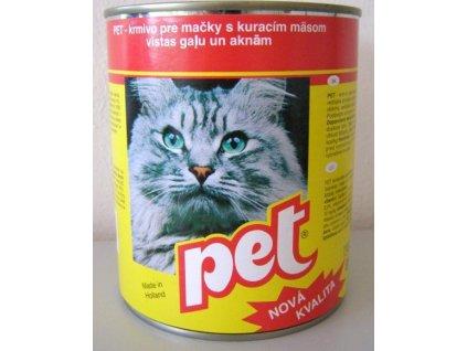 PET KATZE kostky s drůbežím masem pro kočky 855 g