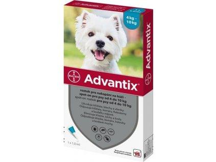 Advantix Spot On 1x1ml pro psy 4-10kg (1 pipeta)