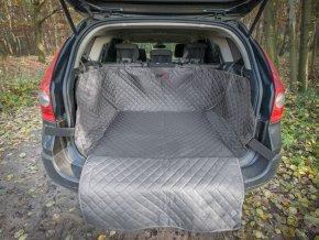 Ochranný potah kufru do auta - šedý, max. rozměr 110 x 110 cm
