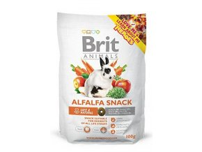 1 60175 brit animals alfalfa snack for rodents 100g