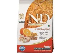 N&D Low Grain Cat Adult Codfish & Orange 0,3 kg