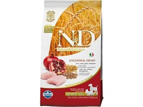 N&D LG DOG Senior S/M Chicken & Pomegr 800g