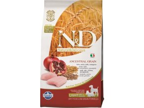 N&D LG DOG Light S/M Chicken & Pomegr 2,5kg