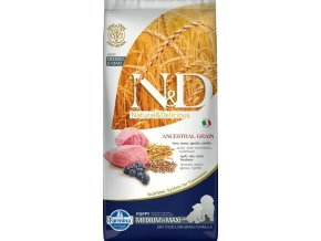 N&D LG DOG Puppy M/L Lamb & Blueberry 12kg