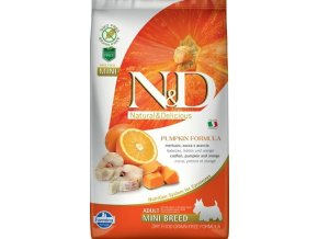 N&D Grain Free Dog Adult Mini Pumpkin Codfish & O 2,5 kg