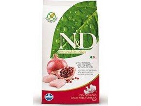 N&D GF DOG Adult Mini Chicken&Pomegranate 800g