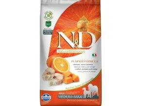 N&D GF Pumpkin DOG Adult M/L Codfish & Orange 2,5kg