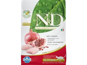 N&D Grain Free Cat Neutered Chicken & Pomegr. 0,3 kg