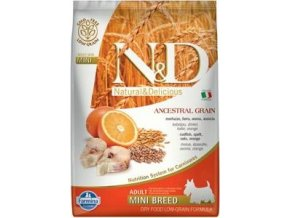 N&D LG DOG Adult Mini Codfish & Orange 7kg