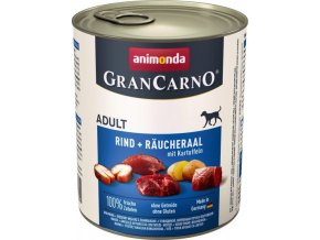 GRANCARNO Adult - uzený úhoř + brambory 800g