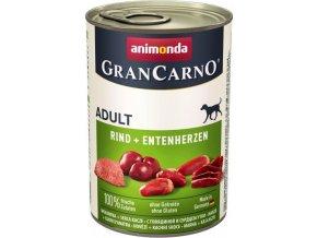 GRANCARNO Adult - hovězí, kachní srdce  400g