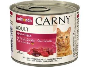 ANIMONDA konzerva CARNY Adult - hovězí, srdce 200g