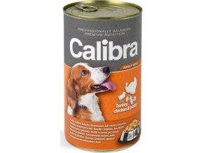 Calibra Dog konz.-krůta + kuřecí +těstoviny vželé 1240 g