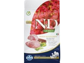 N&D GF Quinoa DOG Weight Mngmnt Lamb & Broccoli 800g