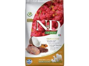 N&D GF Quinoa DOG Skin&Coat Quail & Coconut 2,5kg