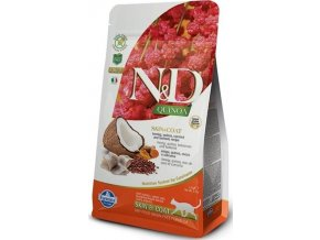 N&D GF Quinoa CAT Skin&Coat Herring & Coconut 300g