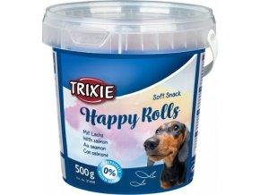 Soft Snack Happy Rolls - tyčinky s lososem, kyblík 500 g